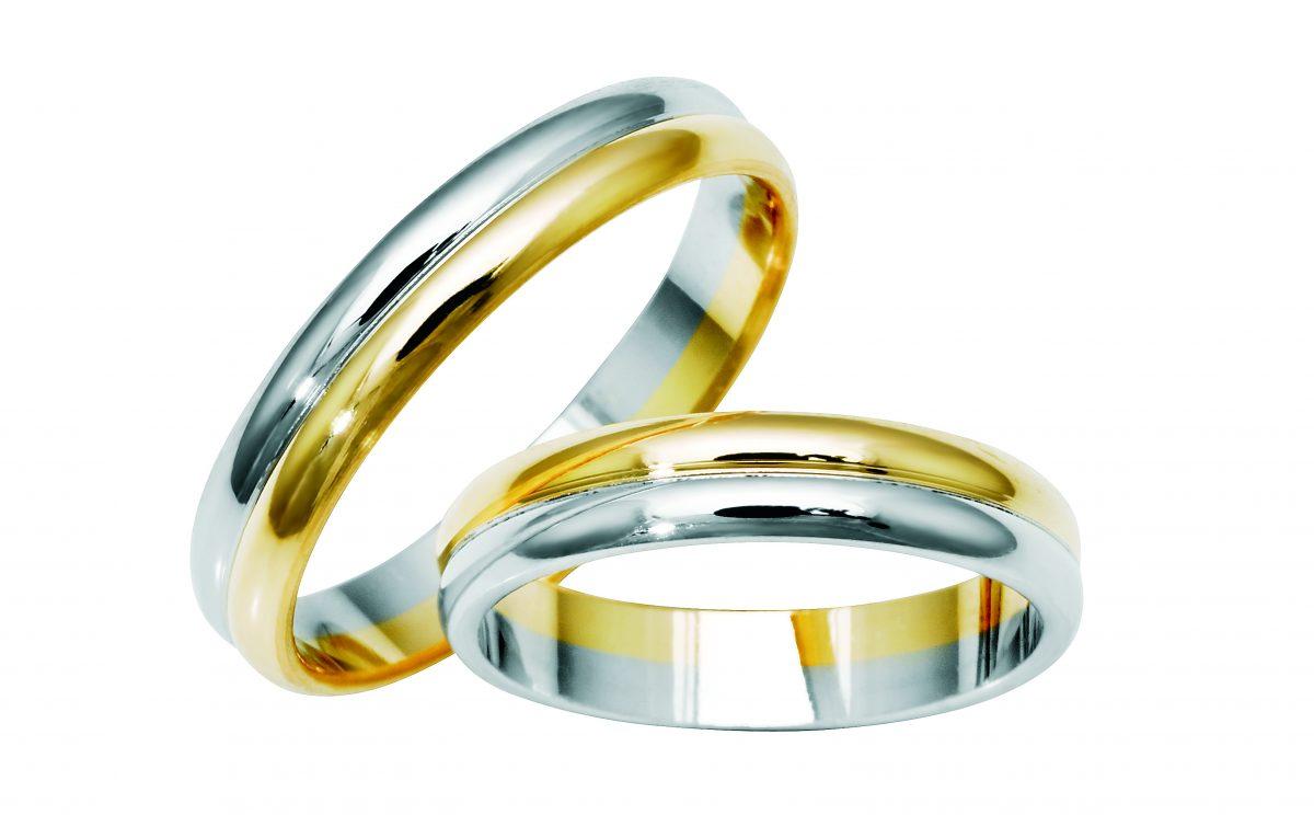 Nydelige giftering i hvitt og gult gull fra Bjørklund