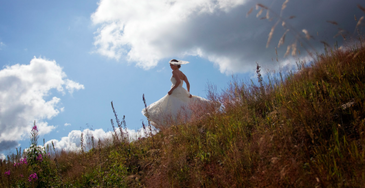 Vakker natur, brudefotografering